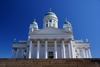 Helsinki, Finland: Lutheran Cathedral - hexastyle portico and green dome - Suurkirkko / Storkyrkan - photo by A.Ferrari
