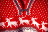 Finland - Levi: red sweater at the market - Sami decoration (photo by F.Rigaud)