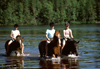 Finland - Tahko: horse riding on the lake (photo by F.Rigaud)