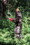 Finland - Kuopio (Ita-Suomen Laani): paint-ball in the forest - combat game (photo by F.Rigaud)