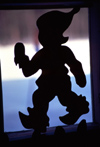 Finland - Lapland - Gnome walking - silhouette - Arctic images by F.Rigaud