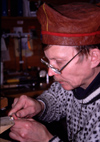Finland - Lapland - Inari - artisan - jewler at work - Arctic images by F.Rigaud