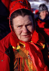 Finland - Lapland - Ivalo - Sami woman in traditional atire - Arctic images by F.Rigaud