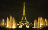 Paris, France: night shot of the Eiffel Tower and the fountains of the Palais de Chaillot and the Gardens of the Trocadéro - 7e and 16e arrondissements - photo by C.Lovell