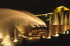 Paris, France: night shot of the fountains of the Palais de Chaillot and the Gardens of the Trocadéro - designed by Jean-Charles Alphand - 7e and 16e arrondissements - photo by C.Lovell