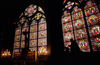 Paris, France: glass windows inside Notre Dame Cathedral - 4e arrondissement - photo by C.Lovell