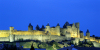 France - Languedoc-Roussillon - Carcassone: city walls - nocturnal - photo by A.Bartel