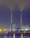 France - Le Havre (Seine-Maritime, Haute-Normandie): Coal Power Station  smoke stacks - photo by A.Bartel