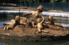 Versailles, Yvelines département, France: Palace of Versailles / Château de Versailles - harvest - sculpture in a fountain - photo by Y.Baby