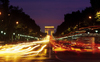 Paris: Champs-Élysées at night - seen from Place de la Concorde - photo by Y.Baby