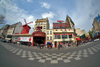 France - Paris: Moulin Rouge - fisheye view - photo by Pierre Jolivet