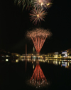 Le Havre, Seine-Maritime, Haute-Normandie, France: fireworks and water at Bassin du Commerce - photo by A.Bartel