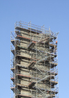 Le Havre, Seine-Maritime, Haute-Normandie, France: scaffolding, staircase to nowhere - photo by A.Bartel