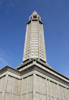 Le Havre, Seine-Maritime, Haute-Normandie, France: St. Josephs Church from below - architect Auguste Perret - UNESCO World Heritage Site - photo by A.Bartel
