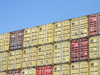 Le Havre, Seine-Maritime, Haute-Normandie, France: Containers piled on a Ship - photo by A.Bartel
