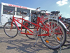 Le Havre, Seine-Maritime, Haute-Normandie, France: bicycles and tandems for hire, seafront - support bus - photo by A.Bartel