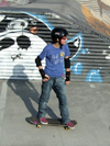Le Havre, Seine-Maritime, Haute-Normandie, France: young skater at the skatepark - photo by A.Bartel