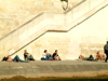 France - Paris: sun tanning by the river (photo by C.Schmidt)
