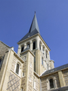 Le Havre, Seine-Maritime, Haute-Normandie, France: spire of St. Vincent Church - photo by A.Bartel