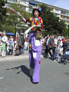 Le Havre, Seine-Maritime, Haute-Normandie, France: long legged juggler, Children's Carnival - photo by A.Bartel