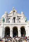 France - Paris: Sacre-Coeur basilica - entrance (photo by K.White)