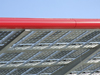 Le Havre, Seine-Maritime, Haute-Normandie, France: detail of Solar Panel Roof, Gas Station - green energy - photo by A.Bartel