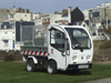 Le Havre, Seine-Maritime, Haute-Normandie, France: Electric Vehicle - smal truck built by Goupil industrie - photo by A.Bartel