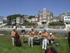 Le Havre, Seine-Maritime, Haute-Normandie, France: Old Time Jazz Band plays outside - Normandy - photo by A.Bartel
