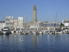 Le Havre, Seine-Maritime, Haute-Normandie, France: Sailing Harbour and Saint Josephs Church - Normandy - photo by A.Bartel