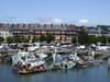 Le Havre, Seine-Maritime, Haute-Normandie, France: fishing Harbour and residential buildings - photo by A.Bartel