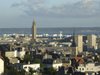 Le Havre, Seine-Maritime, Haute-Normandie, France: the city and the port - spires and oil tanks - photo by A.Bartel