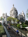 France - Paris: Sacre-Coeur basilica - stairs (photo by K.White)
