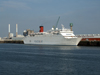 Le Havre, Seine-Maritime, Haute-Normandie, France: Peace Boat, Ocean Dream on the dock - photo by A.Bartel