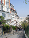 France - Paris: Montmartre - Parisian stairs (photo by K.White)