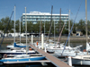 Le Havre, Seine-Maritime, Haute-Normandie, France: Novotel from the Yacht Harbour - Cours Lafayette and yachts in the marina - Normandy - photo by A.Bartel
