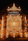 France - Paris: Galeries Lafayette - nocturnal decoration (photo by K.White)