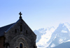 France / Frankreich -  Le Grand Bornand (Haute Savoie): church and the mountains (photo by K.White)