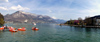 France / Frankreich -  Lac D'Annecy: pedal boats on the lake (photo by K.White)