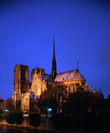 Paris, France: Notre Dame - Île de la Cité - southeast view - nocturnal - photo by A.Bartel