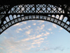France - Paris: Parisian sky and Arch of the Eiffel Tower (photo by J.Kaman)