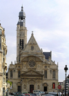 France - Paris: Church in Latin Quarter... with a minaret - mosque - photo by J.Kaman
