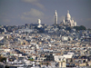 France - Paris: Sacré Coeur and Montmartre - view from the top of Arc de Triomphe (photo by J.Kaman)