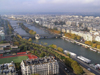 France - Paris: Seine river and Paris from the Eiffel tower - Banks of the Seine - Unesco world heritage site (photo by J.Kaman)