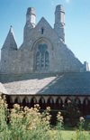 Mont St Michel, France: chimneys - gable of the monastic refectory - photo by A.Baptista