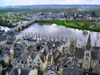 France - Chinon - Loire Valley (Département indre-et-loire - Région Centre): Loire river - view from the chateau - photo by A.Caudron