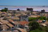 France - Languedoc-Roussillon - Gard - Aigues-Mortes - view from the outer town wall looking seaward - photo by T.Marshall