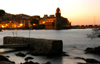 France - Northern Catalonia - Languedoc-Roussillon - Pyrénées-Orientales - Collioure - Cotlliure - harbour at dusk - Anse de Collioure - photo by T.Marshall