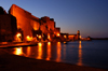 France - Languedoc-Roussillon - Pyrénées-Orientales - Collioure - Cotlliure - Chateau Royale and harbour at night - photo by T.Marshall