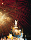 Paris, France: EuroDisney - fireworks and fantasy castle - Marne-la-Vallée - photo by A.Bartel