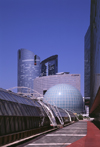 Paris, France: La D�fense - D�me Imax, Tour Pacific and Tours Soci�t� G�n�rale - photo by A.Bartel